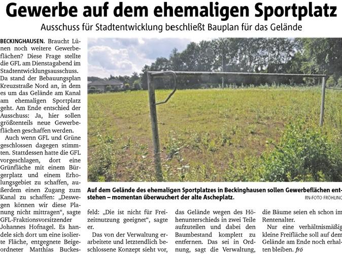 Stadtverwaltung und Politik ignorieren die Wünsche der Beckinghausener Vürger!