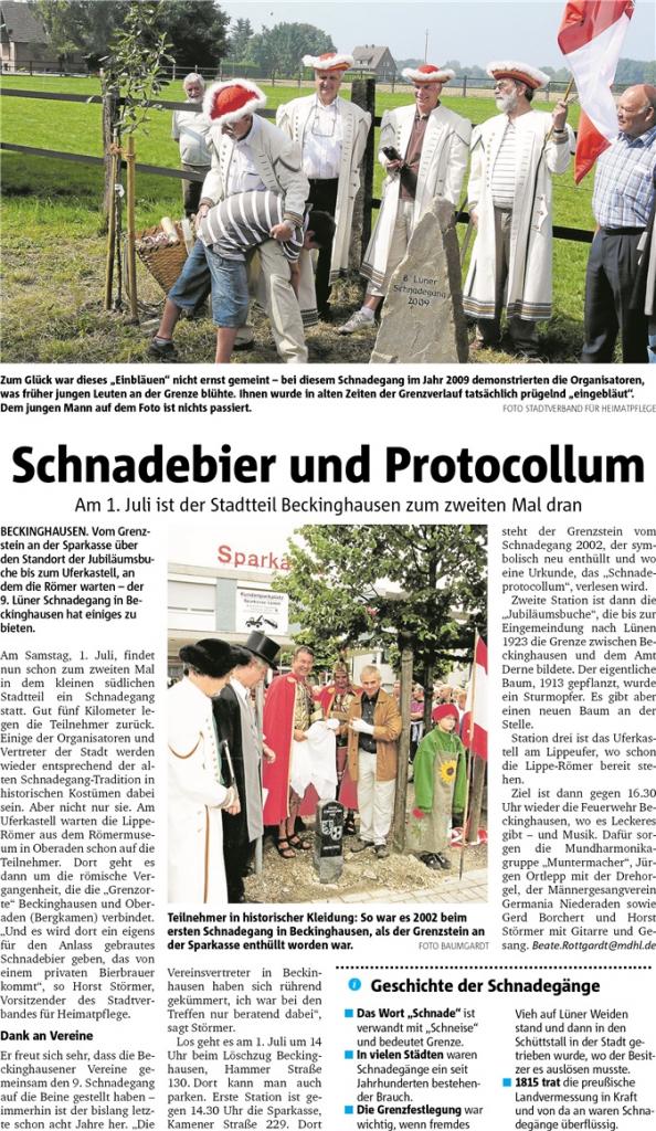 Am 01.07. findet der 2. Schnadegang in Beckinghausen statt!